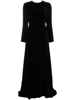 Длинное платье с открытой спиной Racil. Цвет: чёрный
