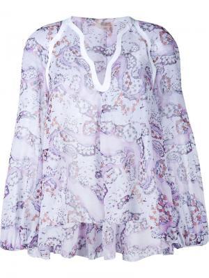 Блузка с цветочным принтом Giambattista Valli. Цвет: многоцветный