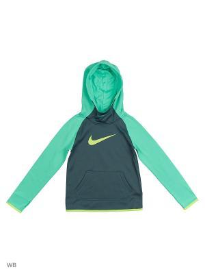 Худи G NK THRMA HOODIE PO ALL TIME Nike. Цвет: зеленый, светло-зеленый