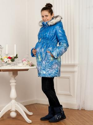 Куртка МАМАРАДА. Цвет: голубой