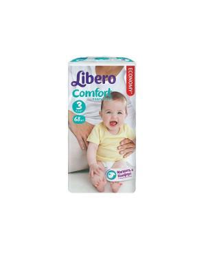 Libero Подгузники детские Комфорт миди 4-9кг 68шт упаковка мега. Цвет: белый