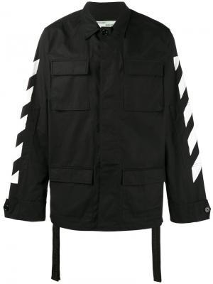 Куртка с полосками Off-White. Цвет: чёрный