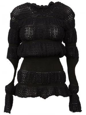 Вязаный свитер с вырезами Helen Lawrence. Цвет: чёрный