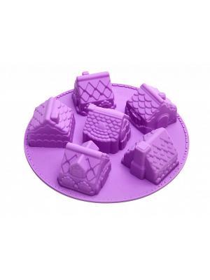 Форма для выпечки ИМБИРНЫЙ ДОМИК BRADEX. Цвет: фиолетовый