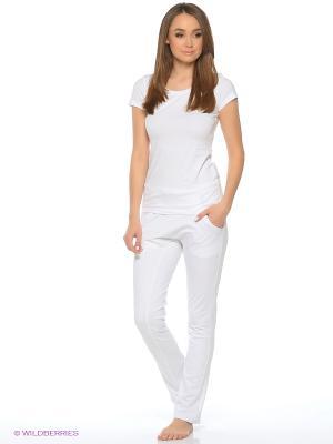 Спортивные брюки SAVASANA. Цвет: белый