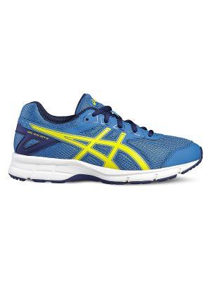Кроссовки GEL-GALAXY 9 GS ASICS. Цвет: темно-синий, голубой, желтый
