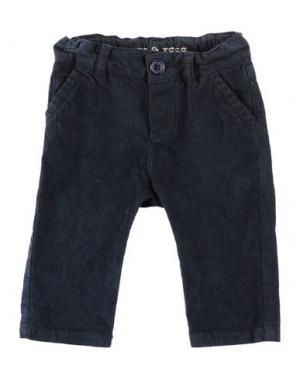 Повседневные брюки BABE & TESS. Цвет: синий