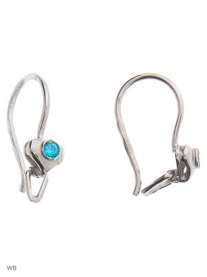 Серьги детские ACCENT jewelry. Цвет: голубой
