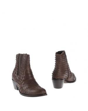 Полусапоги и высокие ботинки UNLACE. Цвет: темно-коричневый