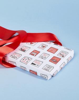 OHH DEER Бумага для упаковки подарков на День св. Валентина с принтом котов. Цвет: мульти
