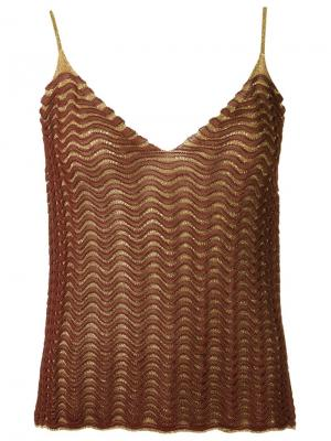 Knit tank top Gig. Цвет: коричневый