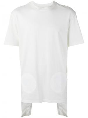 Layered angle T-shirt D.Gnak. Цвет: белый