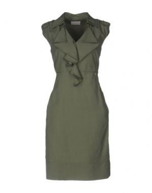 Короткое платье ROBERTA SCARPA. Цвет: зеленый-милитари