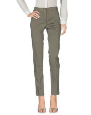 Повседневные брюки KILTIE. Цвет: свинцово-серый