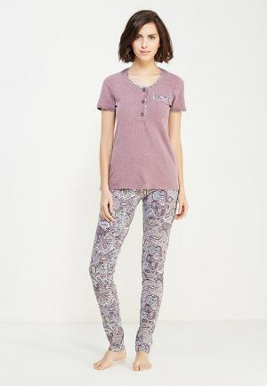 Пижама Cleo. Цвет: фиолетовый