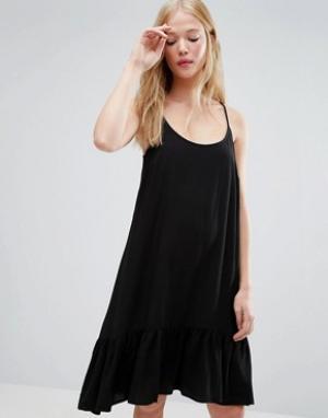 Gestuz Платье на бретельках с заниженной талией Vea. Цвет: черный