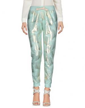Повседневные брюки TEE-TREND. Цвет: бирюзовый