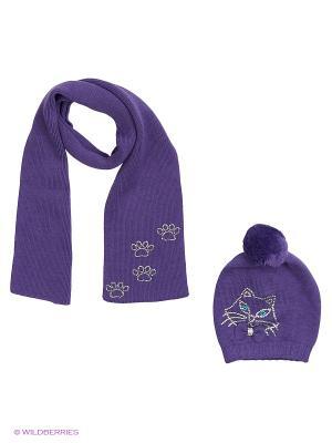 Комплект  (шапка, шарф) R&I. Цвет: фиолетовый