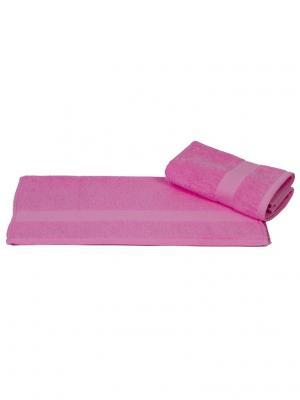 Махровое полотенце 100x150 BERIL розовое, 100% хлопок HOBBY HOME COLLECTION. Цвет: розовый