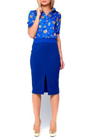 Юбка Majaly. Цвет: синий, электрик