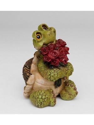 Фигура Черепаха Влюблённый Чери Sealmark. Цвет: зеленый