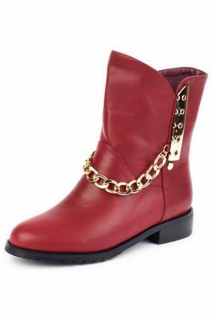 Ботинки Norka. Цвет: бордовый