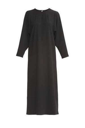 Платье из искусственного шелка с хлопком 175925 Cyrille Gassiline. Цвет: черный
