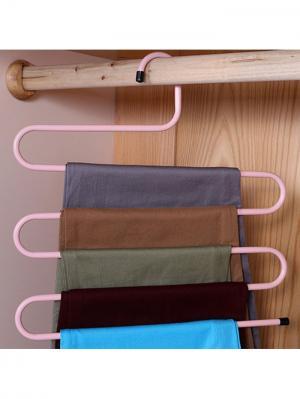 Вешалка для брюк Тремпель RUGES. Цвет: розовый