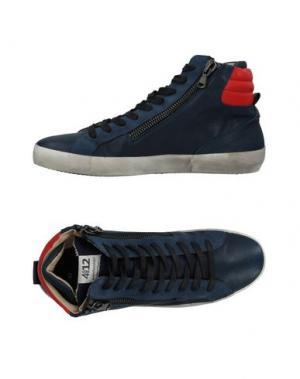 Высокие кеды и кроссовки QUATTROBARRADODICI. Цвет: темно-синий