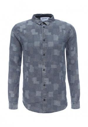 Рубашка Anerkjendt. Цвет: синий