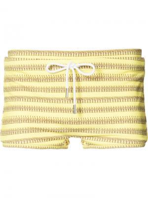 Плавки-боксеры Paul Katama. Цвет: жёлтый и оранжевый
