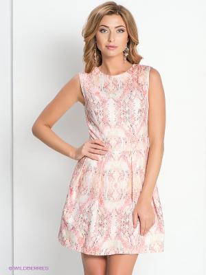 Платье DEVORE. Цвет: бледно-розовый