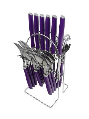 Столовый набор из нержавеющей стали, 25 предметов Peterhof. Цвет: темно-фиолетовый