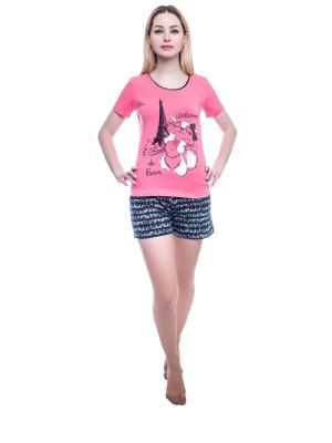 Пижама NICOLETTA. Цвет: коралловый