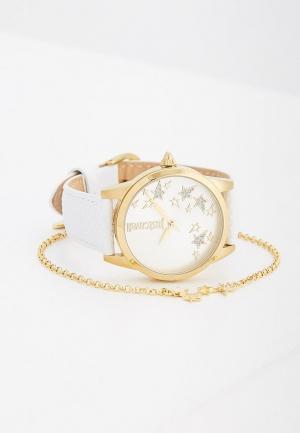 Комплект часы и браслет Just Cavalli. Цвет: белый