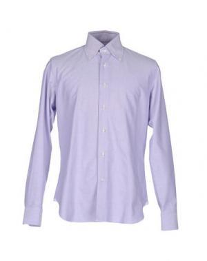 Pубашка LEXINGTON. Цвет: сиреневый
