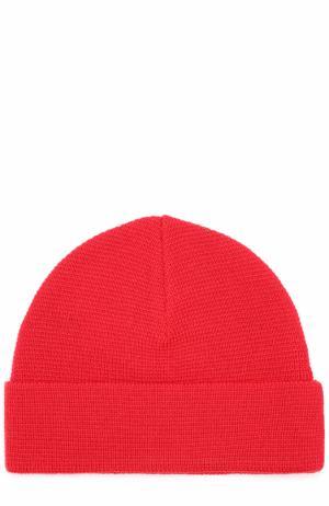 Шерстяная шапка бини Ami. Цвет: красный