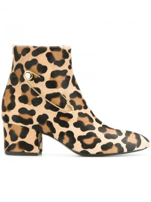 Animal print boots Coliac. Цвет: телесный