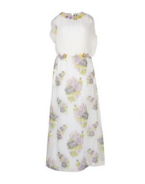 Длинное платье MAURIZIO PECORARO. Цвет: белый