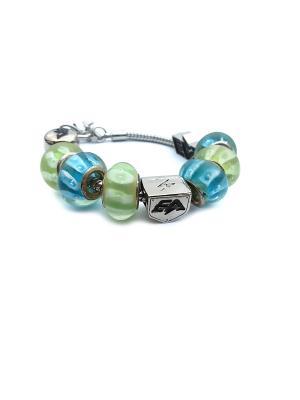 Браслет Womens Charm Bracelet Turquoise and Lime Green Energyarmor. Цвет: бирюзовый