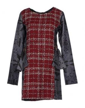 Короткое платье AMARANTO. Цвет: красно-коричневый