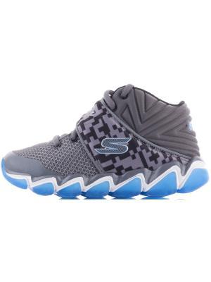 Кроссовки для мальчиков SKECHERS. Цвет: серый, голубой