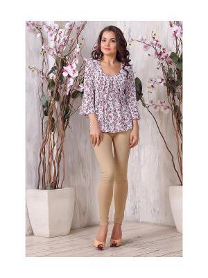 Блуза LIORA. Цвет: розовый