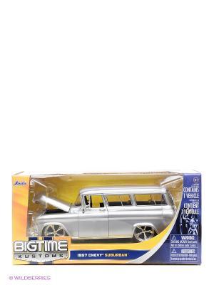 Модель автомобиля Chevy Suburban (1957) 1:24 Jada. Цвет: серебристый