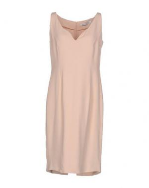 Короткое платье GAI MATTIOLO. Цвет: песочный