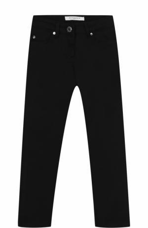 Джинсы прямого кроя с аппликациями в виде звезд Givenchy. Цвет: черный