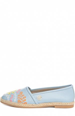 Эспадрильи Blumarine. Цвет: голубой