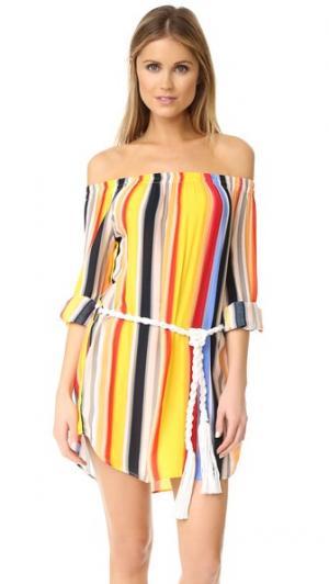 Пляжное платье-Sunset Haze Red Carter. Цвет: кремовый мульти