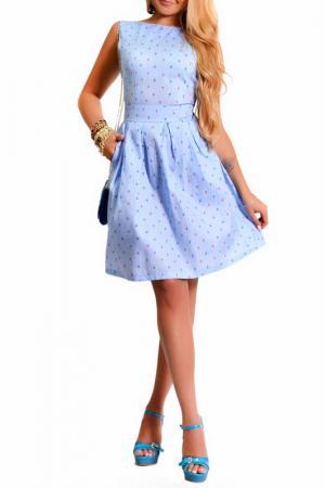 Платье LASKANY collezioni. Цвет: нежно-голубой