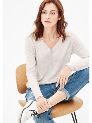 Пуловер S.OLIVER. Цвет: молочный